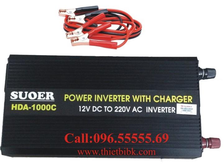 Bộ kích điện và sạc ắc quy tự động SUOER HDA-1000C 750W dùng cho gia đình