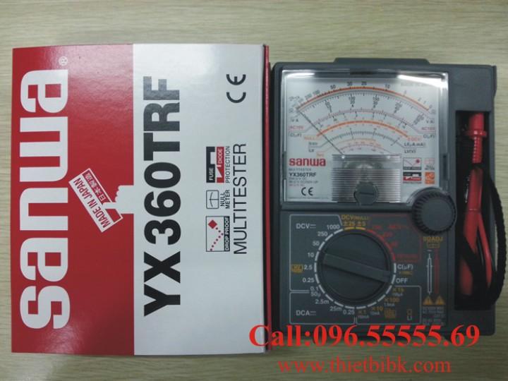 Đồng hồ vạn năng SANWA YX360TRF Analog Multitester thiết kế có hộp bảo vệ đựng que đo