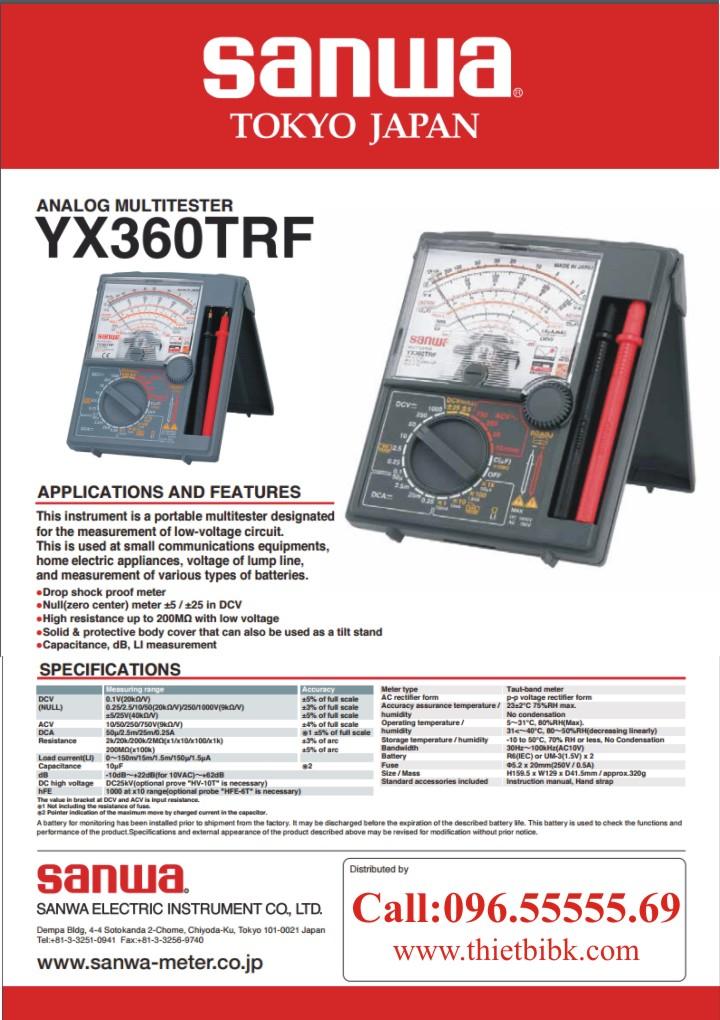 Đồng hồ vạn năng SANWA YX360TRF Analog Multitester Made in Japan