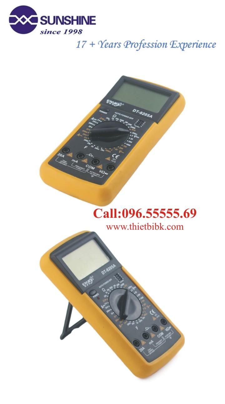 Đồng hồ vạn năng điện tử Exyou DT-9205A dùng cho thợ sửa chữa điện tử