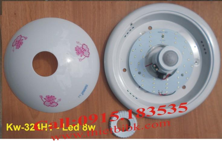 Đèn cảm ứng ốp trần Kawa KW-324- Dùng LED vòng
