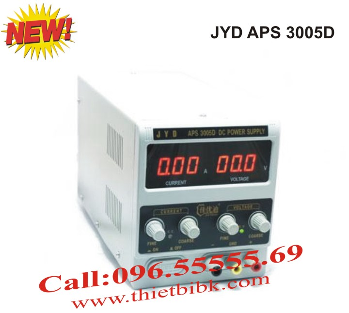 Máy cấp nguồn JYD APS 3005D DC Power Supply 30VDC 5A dùng cho sửa chữa điện tử