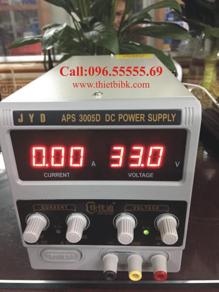 Máy cấp nguồn JYD APS 3005D DC Power Supply 30VDC 5A dùng sửa máy tính bảng, laptop