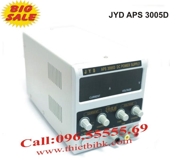 Máy cấp nguồn JYD APS 3005D DC Power Supply cấp nguồn từ 0 – 30VDC, dòng 5A