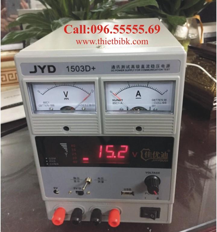 Máy cấp nguồn và báo sóng điện thoại di động JYD 1503D+ 15V 3A đo sóng nhiều mạng di động