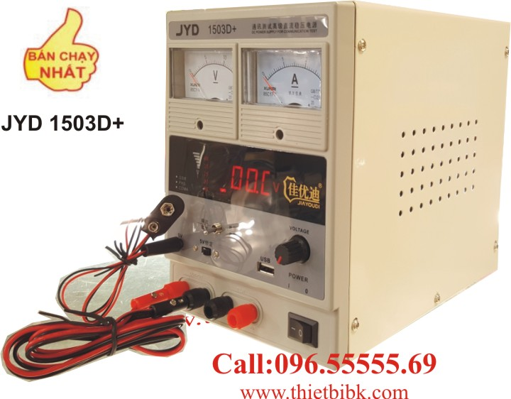 Máy cấp nguồn và báo sóng điện thoại di động JYD 1503D+ 15V 3A dùng cho trung tâm bảo hành điện thoại di động