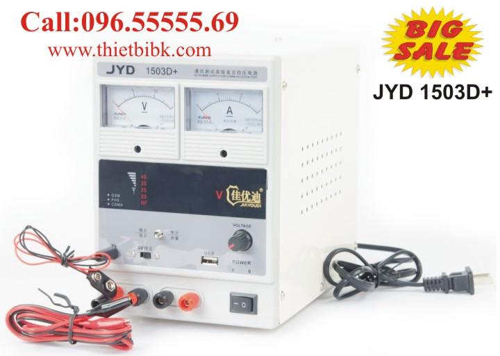 Máy cấp nguồn và báo sóng điện thoại di động JYD 1503D+ 15V 3A dùng cho sửa chữa điện thoại di động