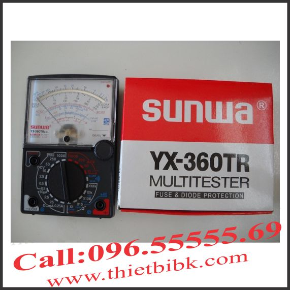 Đồng hồ kim vạn năng Sunwa YX360TR