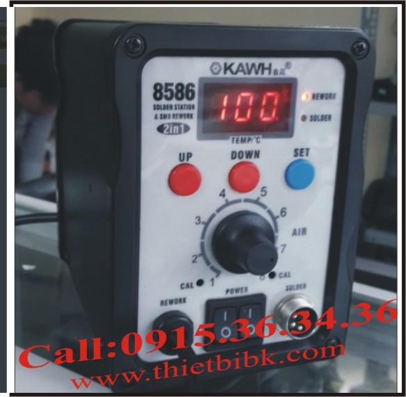 Hiển thị nhiệt trên Máy khò và hàn thiếc KAWH SMD-8586
