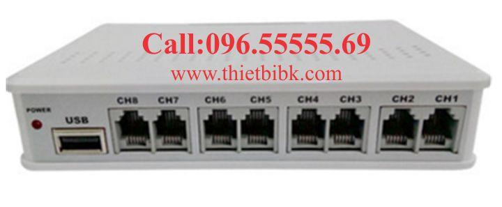 BOX GHI ÂM ĐIỆN THOẠI 8 LINE TANSONIC TX2006U8 USB