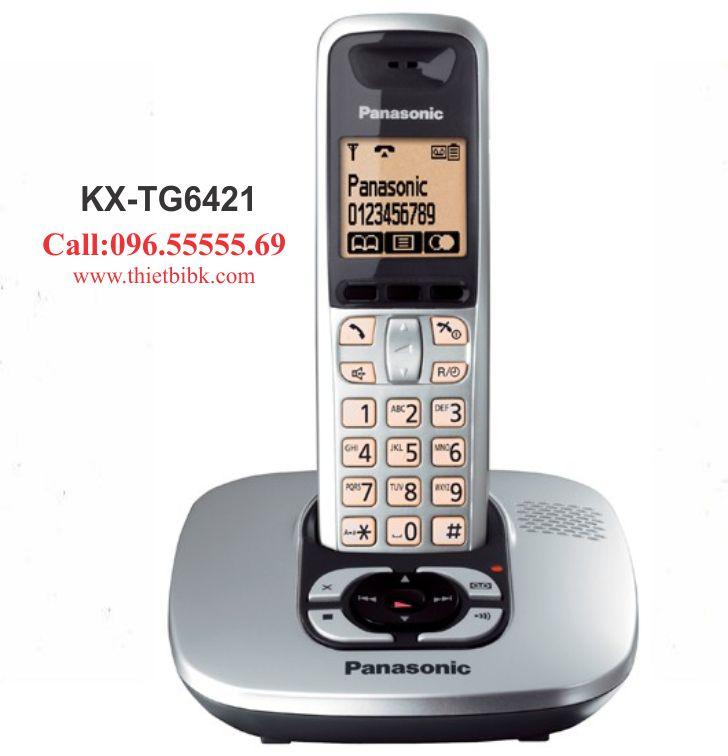 Điện thoại kéo dài Panasonic KX-TG6421 dùng cho gia đình