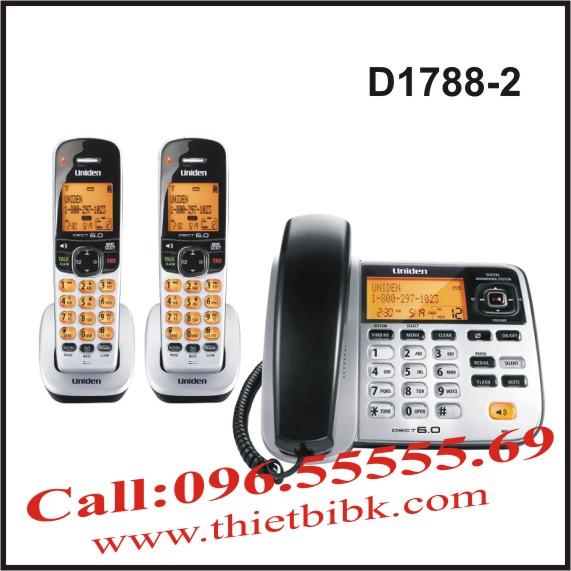 Điện thoại không dây UNIDEN D1788-2 dùng cho cửa hàng kinh doanh
