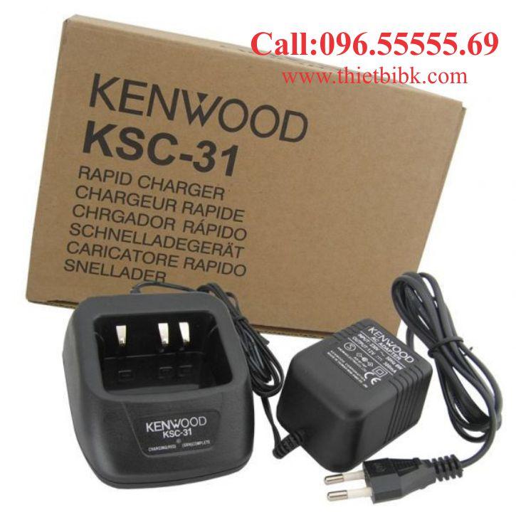 Sạc pin bộ đàm Kenwood KSC-31 dùng cho bảo vệ