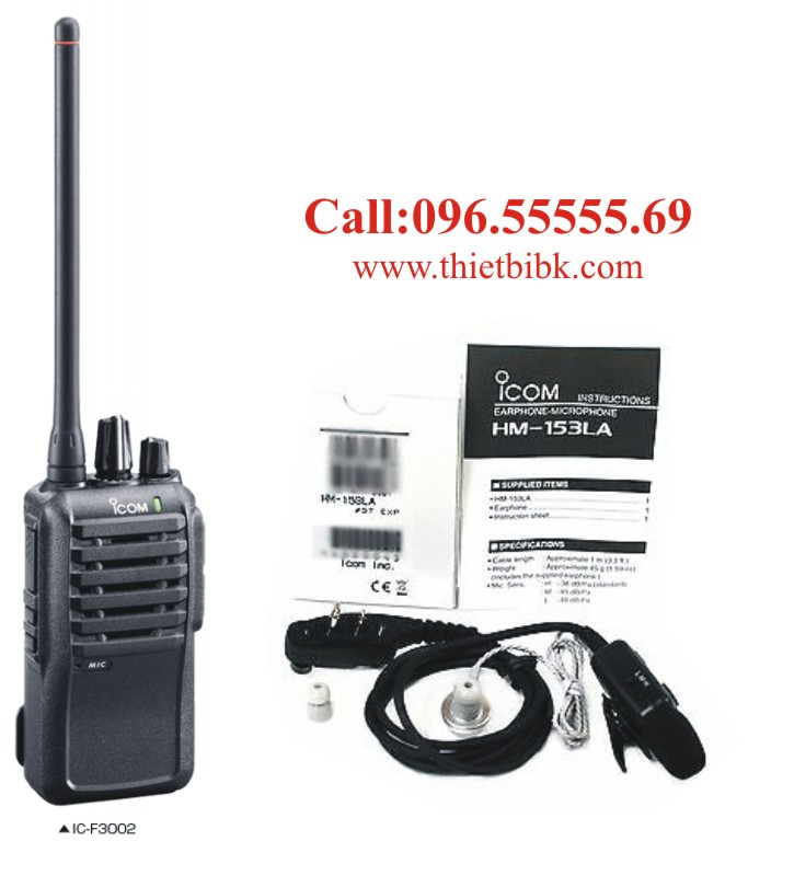 Tai nghe máy bộ đàm ICOM IC-F3002 dùng cho cảng biển
