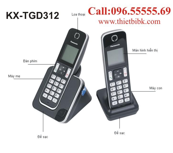 Điện thoại kéo dài Panasonic KX-TGD312 dùng cho cửa hàng