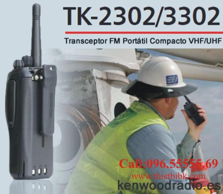 Bộ đàm KENWOOD TK-2302 dùng cho khu công nghiệp