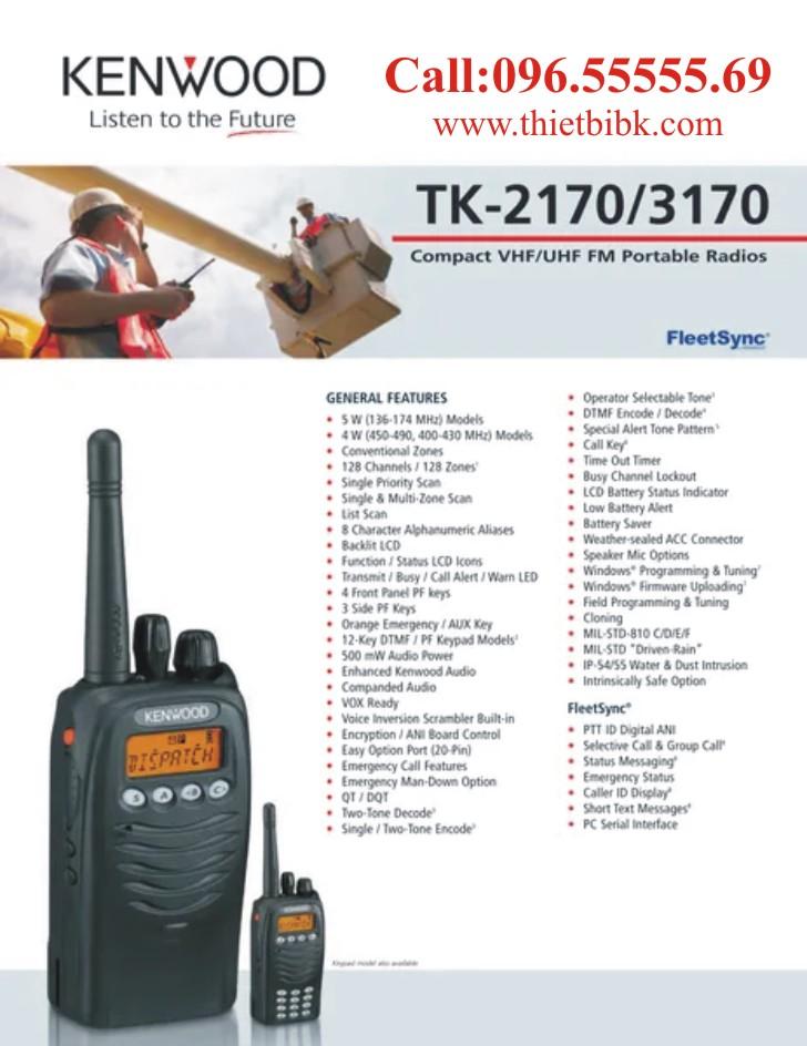 Máy bộ đàm Kenwood TK-3170 dùng cho điện lực