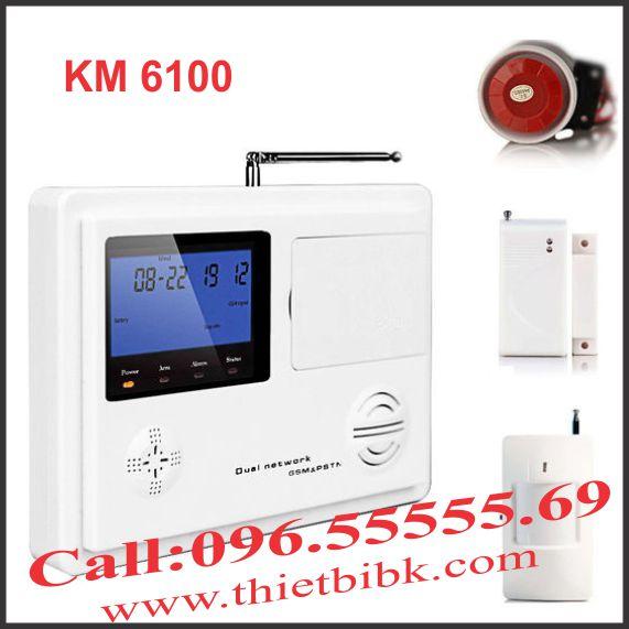 Thiết bị báo động dùng SIM KOMAX-KM-6100 hàng chính hãng